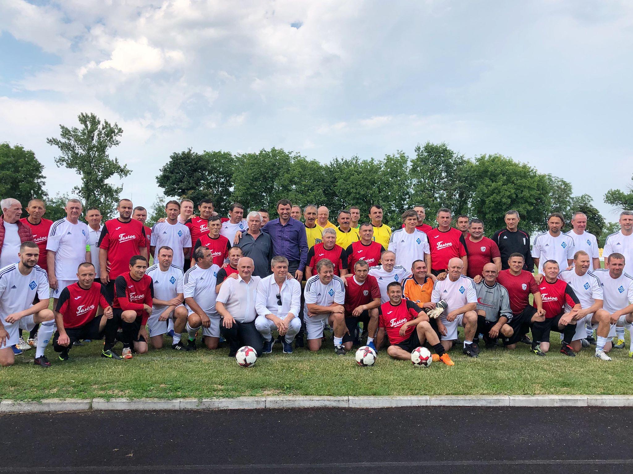 У Коломиї зіграла легендарна футбольна команда ветеранів «Динамо» (відеосюжет)