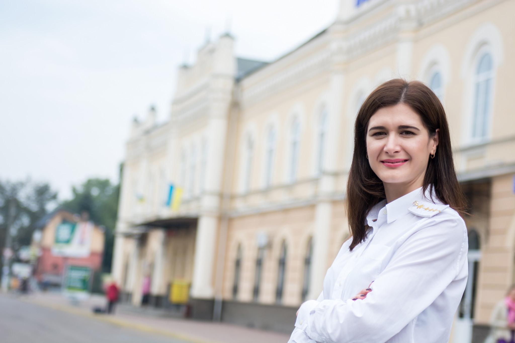 Начальниця вокзалу в Коломиї Ольга Петрів
