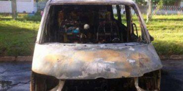 У Коломиї згорів мікроавтобус