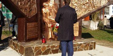 В Рожнятові відкрили пам'ятник воїнам АТО та героям Небесної Сотні. ФОТО