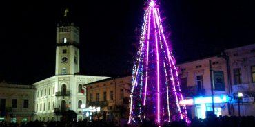 Новорічна ялинка у Коломиї: цьогоріч струнка, але убога. ФОТО