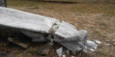 Пам'ятник Героям війни розбили у Микуличині. ФОТО