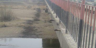 Облавтодорівці викидали у річку сміття. ФОТО