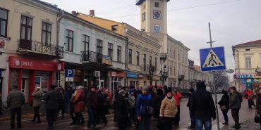 У Коломиї страйкують вуличні торговці. ФОТО