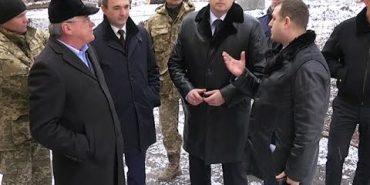 Голова Івано-Франківської ОДА Олег Гончарук перевірив, як ремонтують військову частину у Коломиї. ВІДЕО