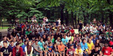 У парку Трильовського на великому екрані можна дивитися матчі Євро-2016. ФОТОРЕПОРТАЖ