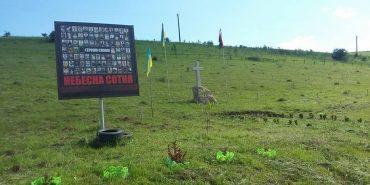 """На Тлумаччині селяни полінувались скосити траву у сквері """"Небесної сотні"""". ФОТО"""