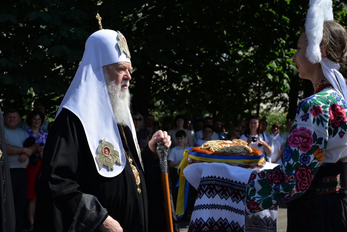 Коломияни зустрічали Святійшого Патріарха хлібом-сіллю /фото: Олександри Олійник-Щербакової