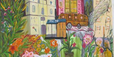На вулицях Івано-Франківська розмістили 14 картин пацієнтів психіатричної лікарні. ФОТО