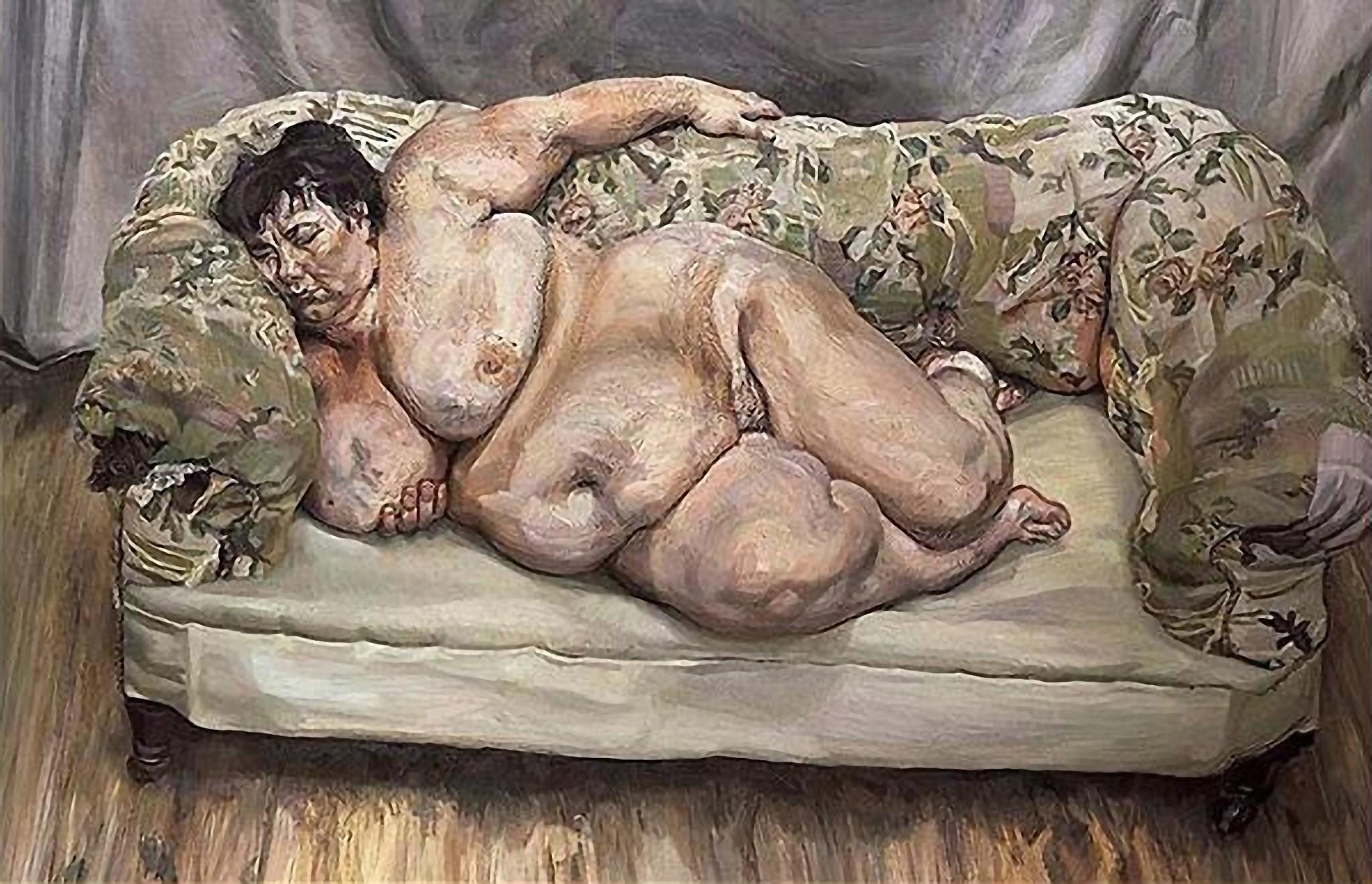 Люсьєн Фройд. Соціальний працівник спить.