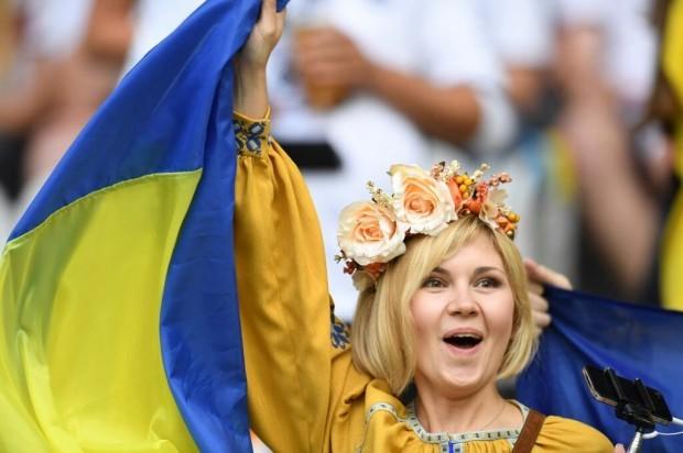 українка підтримала збірну