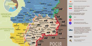 АТО: зведення штабу та карта боїв, 1 липня 2016 року