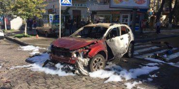 Убивство Шеремета: кадри з місця вибуху авто