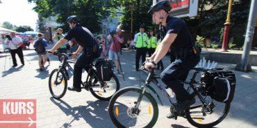 Патрульна поліція у Франківську пересіла на велосипеди