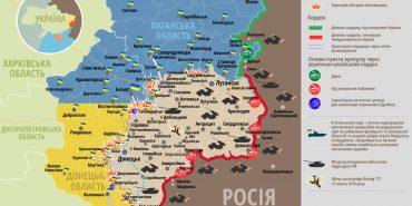 АТО: зведення штабу та карта боїв, 8 серпня 2016 року