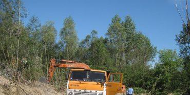 На Коломийщині вкотре виявлено незаконний вивіз гравію. ФОТО