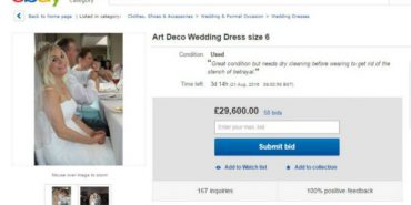 Англійка продає весільну сукню, щоб оплатити розлучення
