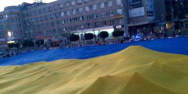 На День Незалежності у Франківську розгорнули найбільший прапор України. ФОТО+ВІДЕО