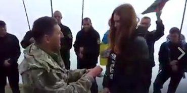 Доброволець з Коломиї Петро Бойчук освідчився своїй дівчині на вершині Говерли. ВІДЕО
