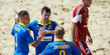 Україна вперше в історії перемогла у Суперфіналі Євроліги з пляжного футболу