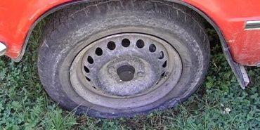 У Коломиї ріжуть колеса автомобілістам. ВІДЕО
