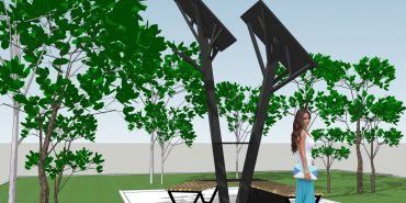 """""""Сонячне дерево"""" для підзарядки гаджетів встановлюють у середмісті Франківська"""