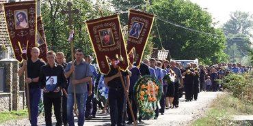 На Коломийщині поховали поліцейського Руслана Бойчука, який трагічно загинув у ДТП. ФОТО