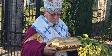На Прикарпаття передали мощі св. Пантелеймона