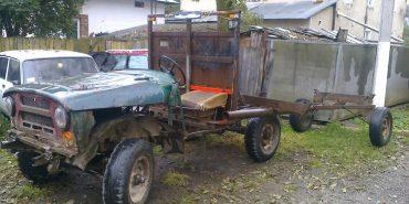 На Прикарпатті поліція виявила саморобний автомобіль для крадіжки лісу . ФОТО