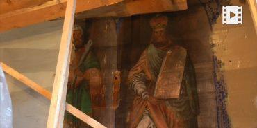 У храмі на Верховинщині віднайшли фрагмент розписів початку XVIII століття