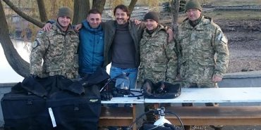 Шоумен і волонтер Сергій Притула передав Центру розмінування два сучасні комплекти водолазного спорядження