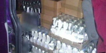 На Франківщині затримали мікроавтобус з фальсифікованим алкоголем. ФОТО