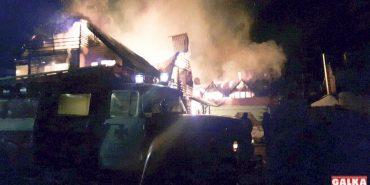 На Прикарпатті згорів готельно-відпочинковий комплекс. ФОТО