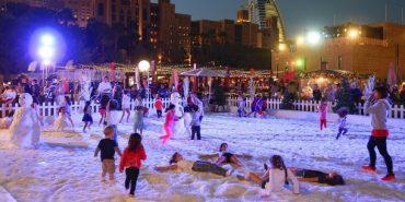 Об'єднані Арабські Емірати засипало снігом. ФОТО