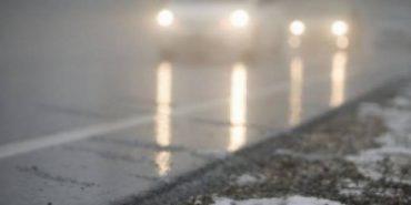 На Прикарпатті водіїв попереджають про туман та ожеледицю на дорогах