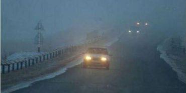 Прикарпатських водіїв попереджають про туман та ожеледицю