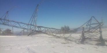 Через крадіїв металу на Верховинщині впала 25-метрова електроопора. ФОТО