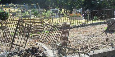 На Прикарпатті встановили особу крадія огорожі могил