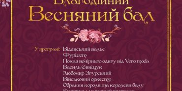 У Коломиї проведуть благодійний весняний бал на підтримку онкохворого Захарчика Грекуляка