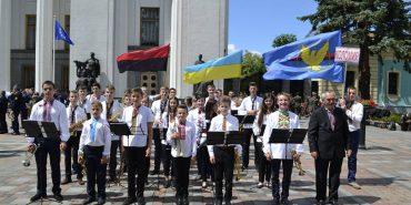 Духовий оркестр Коломийської гімназії представив Прикарпаття на фестивалі і здобув третє місце. ФОТО
