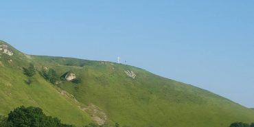 Тризуб на Прикарпатті, який виклав батько з нагоди повернення сина з війни, вразив шоумена Сергія Притулу. ФОТО