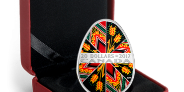 Коломийський музей отримає вже другу срібну монету у формі писанки, випущену Королівським монетним двором Канади