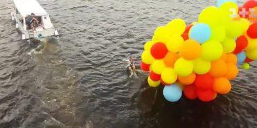 Хлопець намагався перелетіти через Дніпро на повітряних кульках, щоб освідчитися дівчині у коханні