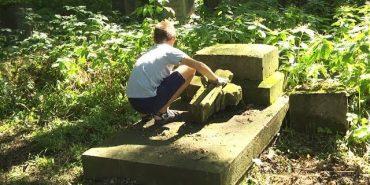 Волонтери з Польщі допомагають коломиянам прибирати польський цвинтар. ВІДЕО