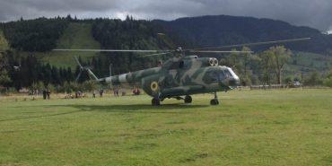 На Прикарпатті проводять тренувальні польоти гелікоптери Нацгвардії. ФОТО