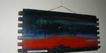 """На Прикарпатті відкрилась виставка картин """"Фронтові замальовки"""". ФОТО"""