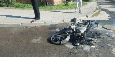 У Коломиї загорівся мопед, водій втік. ФОТО