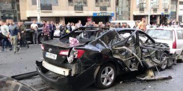В центрі Києва вибухнув автомобіль – загинув іноземець. ФОТО
