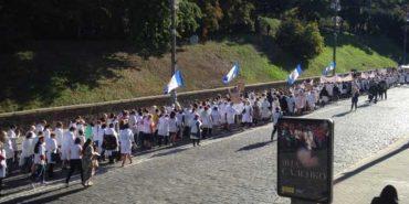 80 прикарпатських медиків вирушили на протест до Києва