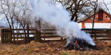 На Прикарпатті киянин бореться з селянами через спалювання листя. ВІДЕО